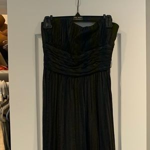 BcBg Max Azria Gown Black long strapless size 04